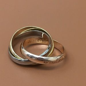 Cartier Tricolor 18k Trinity Ring Size 53